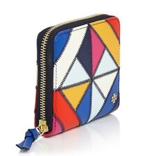Tory Burch Diamond Stitch Medium Zip Wallet Multi Color 35786 BrandNew Authentic