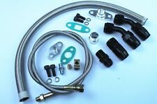 Turbo Charger Oil Drain Return + Feed Line T3 T4 T04E T60 T61 T70 Complete Kit