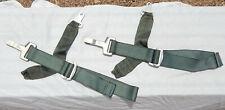 2 USN USMC Pilot Ejection Seat Harness Belt Attachment Strap & Buckle Assemblies