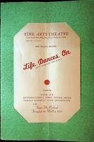 Life Dances On 1938 Movie Program New England Premiere Fine Arts Theatre