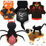 Halloween Pet Dog Clothes Pumpkin Spider Dog Cosplay Costume Puppy Hoodie Coat