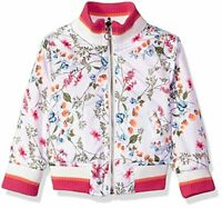 4T Black Urban Republic Toddler Girls Reversible Bomber Jacket