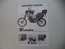 advertising Pubblicità 1984 CRUCIATA e MOTO HONDA XL 500 R