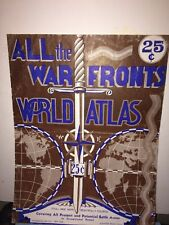 All The War Fronts World Atlas, Geographia Map Company New York