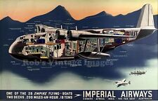 Imperial Airlines Empire Flying Boats photo poster Cut-away Short Bros Cavalier
