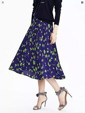 Banana Republic Button Front Pleated Skirt NWT SZ 10