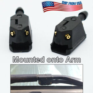 Left & Right Wiper Arm Nozzle Washer Jet Universal 4Way Jets Mounted onto Arm