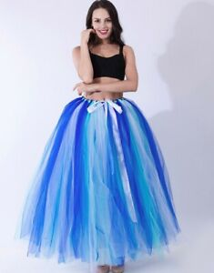 Women's Long Tulle Tutu Skirt Wedding Skirts Petticoat Prom Party Ball Gown
