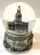 Washington DC Silver Snow Globe 2.5 Inch (45mm) Skylines & Statue of liberty
