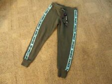 Justice olive green with decorative Dance trim jogger Pant girls size 7