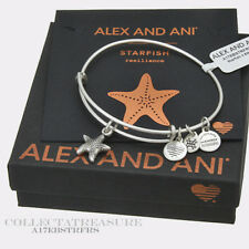 Authentic Alex and Ani Starfish (ii) Rafaelian Silver Expandable Bangle