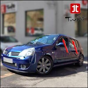 Set 4 Déflecteurs de vent pluie air teintées Renault Clio II 5 portes 1998-2005