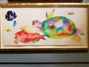 LARGE Tracy Taylor Sea Creatures Painting Artist Proof Signed Watercolor