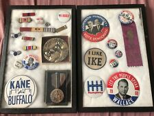 Vintage Political, Military, Historical Ribbon, Ranks, Medals, Buttons,Americana