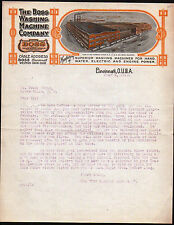 1915 Boss Washing Machine Co - Cincinnati Ohio - Vintage Color Letter Head