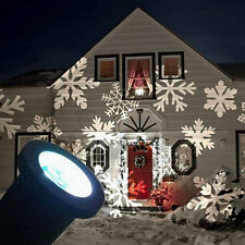 Laser LED Snowflake Christmas Home Light Outdoor Decoration Projector White EU!