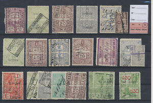 LN51894 Belgium taxation stamps fine lot used