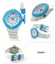 LRW-200H-2B White Blue Casio Ladies Watches 100M Date Display Analog Brand-New