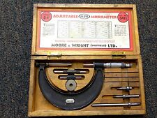 """Moore & Wright Adjustable Micrometer 0""""-4"""" England Made"""