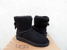 UGG BLACK MINI BAILEY BOW CORDUROY SHEEPSKIN BOOTS, WOMENS US 7/ EUR 38 ~ NIB