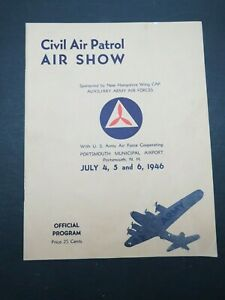 1946 Civil Air Patrol Air Show Official Program Portsmouth New Hampshire Airport