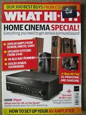 What Hi-Fi October 2018 Home Cinema Special AV Amps Blu-Ray Speakers 4K TV