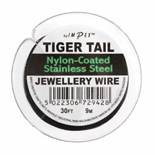 Trimits Tiger Tail Wire - Black, 9m reel