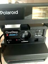 Polaroid Instant Camera One Step Closeup Uses 600 Film With Flash