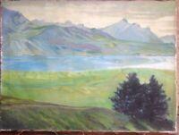 ::HERBERT GRASS *1886 - 1978 °LANDSCHAFT ALPEN VERSO BEZEICHNET UM 1920 SELTEN