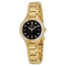 Bulova Maiden Lane Black Dial Ladies Watch 98R222