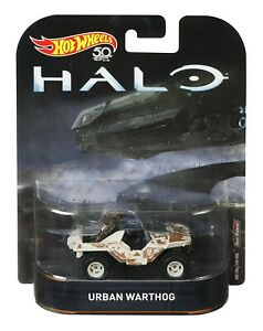 Model Metal Jeep Urban Warthog Game Halo Scale 1/64 Hot Wheels FLD07