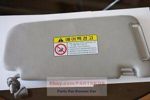 2006~2010 Kia Optima RH passenger Side Sun Visor Gray Genuine (Trim code QW)