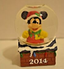 Disney Mickey Mouse JCPenney Snowglobe Christmas 2014 Collectible With Box