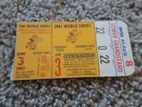 Vtg 1961 Roger Maris HR Yogi Berra Last WS Hit World Series Game 3 Ticket Stub A