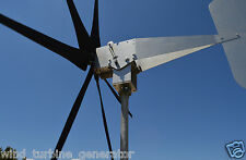 Typhoon Up Tilting Unibody Yaw Wind Turbine Generator 6KT prop 24 Volt AC ROLLER