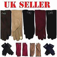 Wholesale Joblot Ladies Women Winter Glove Bow Fleece Thermal Lined Touch Screen