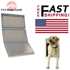 "Pet Door Replacement Flap 10.25""x 15.75"" Clear Plastic Vinyl 3-Panel Extra Large"