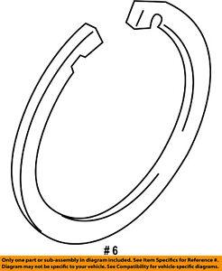 FORD OEM 11-18 Fiesta Brake-Front-Wheel Bearing Lock Ring BE8Z7059A