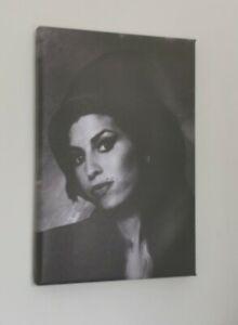 AMY WINEHOUSE Canvas Art Print 30cm x 20cm Pop / Rock Music Icon Portrait