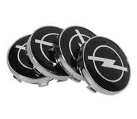OPEL Schwarz Black Nabenkappen Felgendeckel Allufelgen Wheel Cap 4 x 60mm