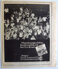 Santana 1976 Poster Ad Amigos