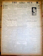 1933 Baltimore MD newspaper BABE RUTH says he will RETIRE from NEW YORK YANKEES