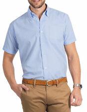 Camicie classiche da uomo a manica corta in cotone XL