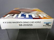 "New 4x5.65"" Schneider Graduated Magenta Heh 2 Grad Filter Hard Edge Horizontal"
