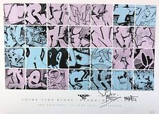 SHOE BANDO MODE2 signée sérigraphie + sticker Banksy Shepard Fairey jonone cope2