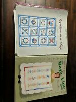Lot of 2 Quilt in a Day Patterns Eleanor Burns - Magic Vine & Applique in a Day