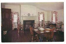DINING ROOM in Home of MARY WASHINGTON Fredericksburg Virginia Postcard VA 1953