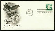 #2111 'D' Eagle, Art Craft-Addressed FDC **ANY 4=FREE SHIPPING**