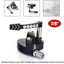 """7/8"""" Motorcycle Bike CNC Throttle Speed Control Knob Thumb Lever Bar Air Filter"""