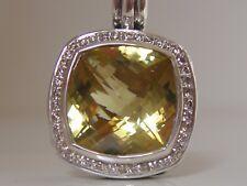 $1475 DAVID YURMAN SS ALBION LARGE LEMON CITRINE DIAMOND ENHANCER